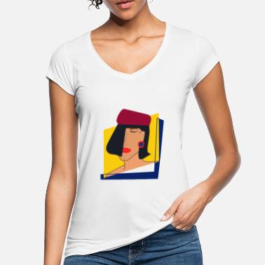 Magazine Lady in Vogue magazine - Women's Vintage T-Shirt