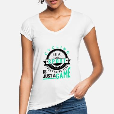 Cycling Lover Cycling Is A Sport - Women's Vintage T-Shirt