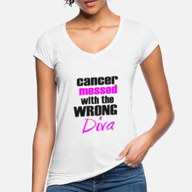 Fight Cancer Cancer messed with wrong Diva - fight against cancer - Women's Vintage T-Shirt