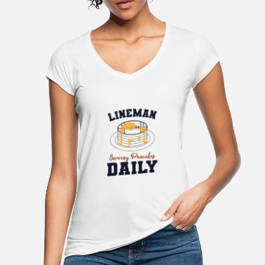 Football Football Lineman, Serving Pancakes Daily - Women's Vintage T-Shirt