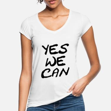 Yes We Can yes we can - Maglietta vintage donna