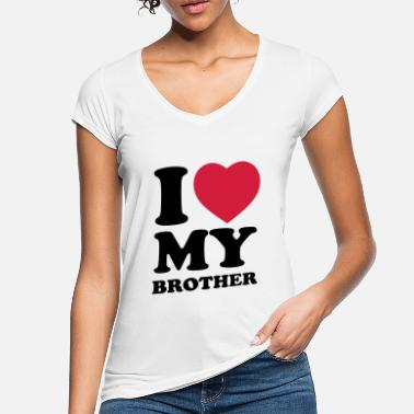 I Love My I love my brother - Vintage T-shirt dam