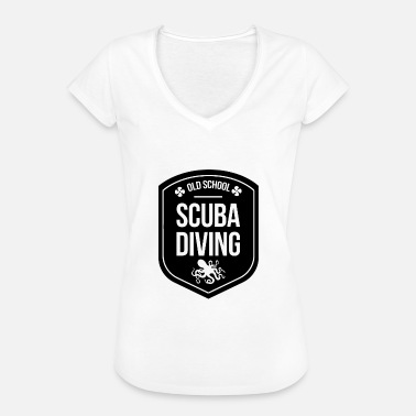 Våddragt Old School Scuba Diving - Dykning Sea Shirt - Dame vintage T-shirt