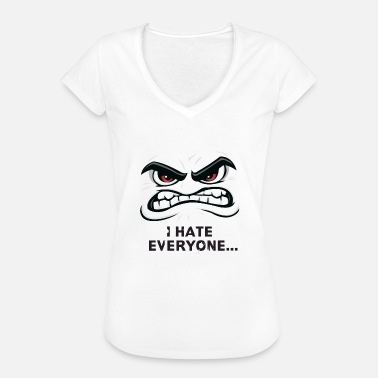I Hate Boys I hate everone - Women's Vintage T-Shirt