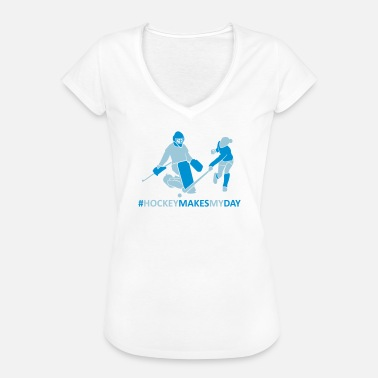 Field Hockey Goalie Hockey goalie and player - Women's Vintage T-Shirt