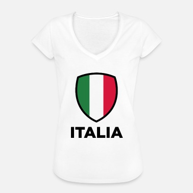 Sydeuropa National Flag Of Italy - Dame vintage T-shirt