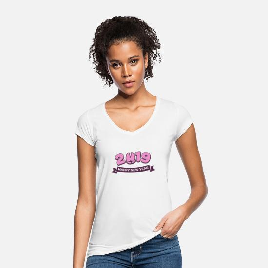 Hog T-Shirts - Happy New Year New Year's Eve New Year's Eve Statement - Women's Vintage T-Shirt white