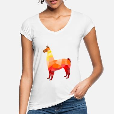 Abstrakt Low-Poly Lama - Frauen Vintage T-Shirt