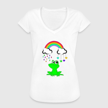 Under the Rainbow Frog - Frog - Vrouwen Vintage T-shirt