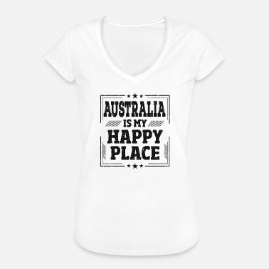 Backpacker Jokes Australia Happy Place Sayings backpacker gift - Women's Vintage T-Shirt