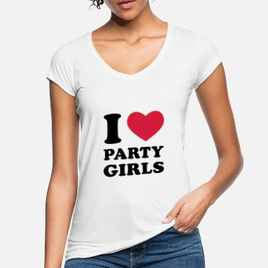 I Love Party I Love Party Girls - Frauen Vintage T-Shirt