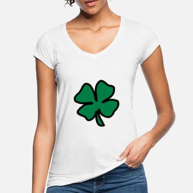 Two Coloured Irish Leaf two coloured - Women's Vintage T-Shirt