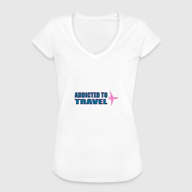 Addicted to travel - Women's Vintage T-Shirt