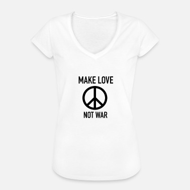 Make Love Not War Att älska var inte - Vintage-T-shirt dam