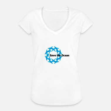 Save Oceans save the ocean - Women's Vintage T-Shirt