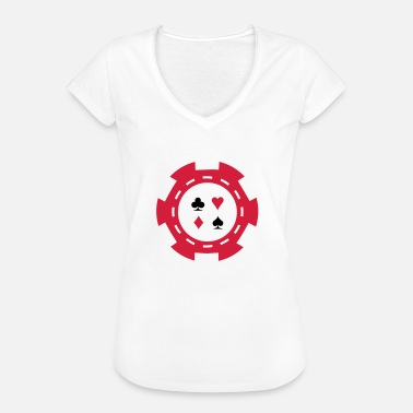 Chip Master casino chip - Women's Vintage T-Shirt