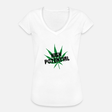 Weed Games High Potential Weed Pun Word Game - Women's Vintage T-Shirt
