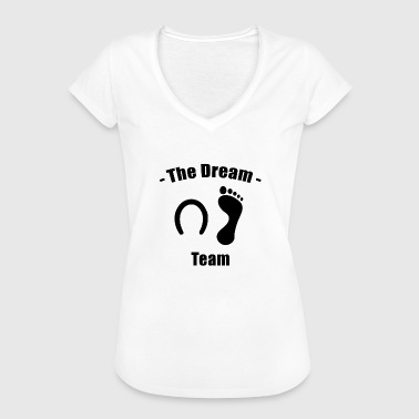 The Dreamteam - Man og Horse - Dame vintage T-shirt