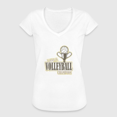 Volleyball Logo Club Club Champion Sport Ball - Women's Vintage T-Shirt