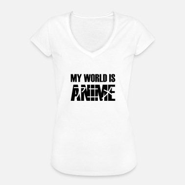 World Series My World Is Anime Series Japan Gift Idea - Women's Vintage T-Shirt