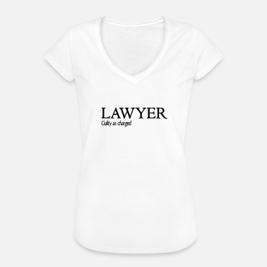 Guilty Funny Lawyer Shirt Guilty As Charged - Camiseta vintage mujer