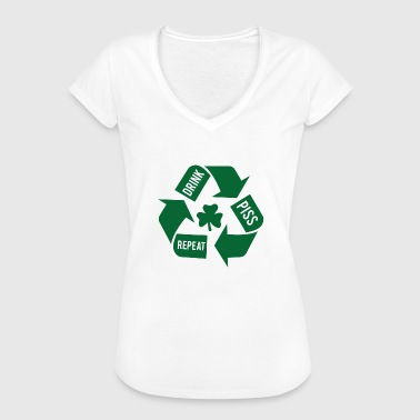 Ireland / St. Patrick's Day: Drink - Piss - Repeat - Women's Vintage T-Shirt
