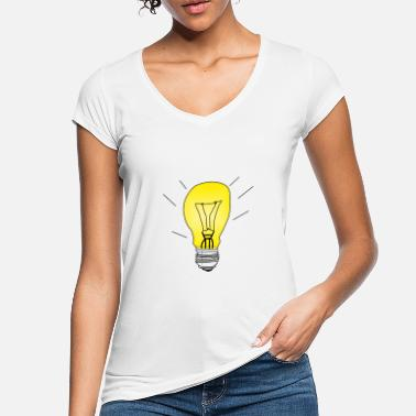 Black Light Light bulb on black gift light - Women's Vintage T-Shirt