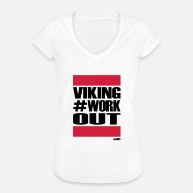 Workout VIKING WORKOUT - Naisten vintage t-paita
