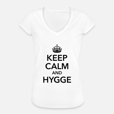 Attitude keep calm and hygge happiness happy positive - Women's Vintage T-Shirt
