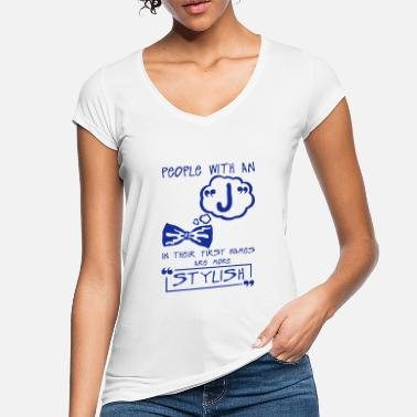 First Name j stylish letter first names citation - Women's Vintage T-Shirt