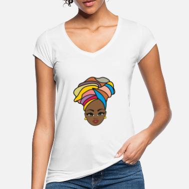 Afro Afro woman with scarf - Women's Vintage T-Shirt