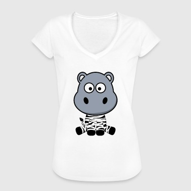 Station Wagon Hippo hippopotamus zebra confused station wagon gift - Women's Vintage T-Shirt