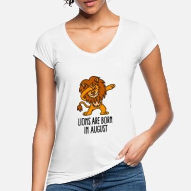 Horoscope Lions are born in august dabbing Lion horoscope - T-shirt vintage Femme