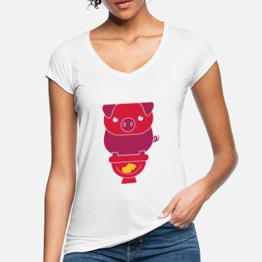 Wc PIG ON THE WC - Women's Vintage T-Shirt