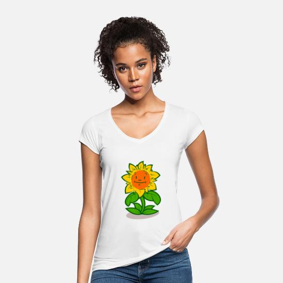 Garden T-Shirts - sunflower - Women's Vintage T-Shirt white