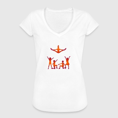 A Group Of Cheerleaders - Women's Vintage T-Shirt