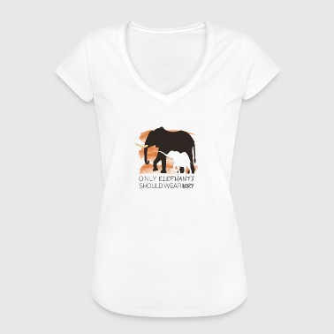 Only Elephants Should wear Ivory - Women's Vintage T-Shirt