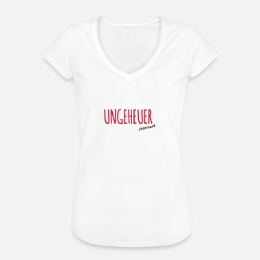Charmant Ungeheuer charmant - Frauen Vintage T-Shirt