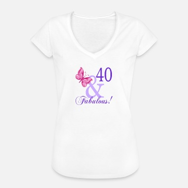 40 And Fabulous 40 and Fabulous - Women's Vintage T-Shirt