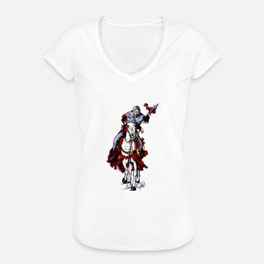 Medeltid lans riddare - Vintage T-shirt dam 36d32e0ebb4ff