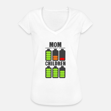 Midday mom children battery energy charge battery discharge - Women's Vintage T-Shirt