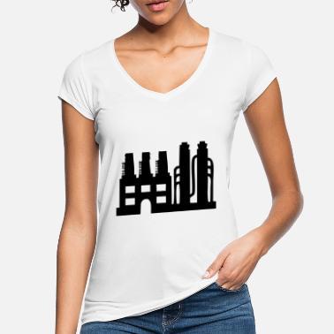 05af10eb33622 Fábrica de la industria - Camiseta vintage mujer