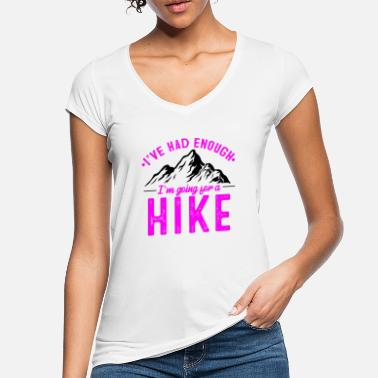 Mountain Hiking It's enough I go hiking in winter - Women's Vintage T-Shirt