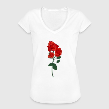rote Rose - Frauen Vintage T-Shirt