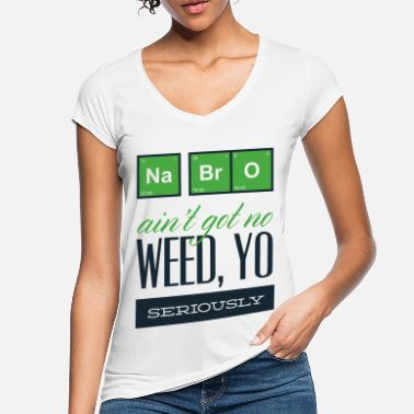 Addicted Funny cannabis weed grass hemp element gift - Women's Vintage T-Shirt