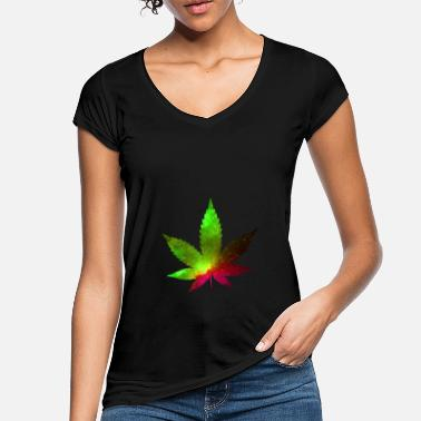 Cannabisblad Cannabisblad - Vintage T-shirt dame