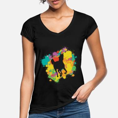 Gallop Horse Silhouette With A Colorful Frame - Women's Vintage T-Shirt