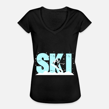 Ski Ski gift piste winter sports - Women's Vintage T-Shirt