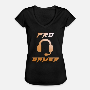 Gamer Pro Gamer Gaming Headset Gamer - Vrouwen Vintage T-shirt