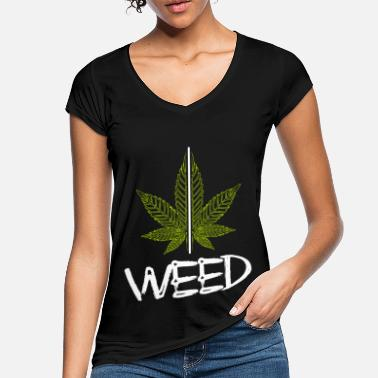 Smoke Weed Plant / Cannabis / Cannabis Leaf / Hemp - Women's Vintage T-Shirt